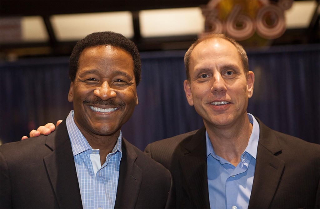 Steve Pool, Emmy-winning Seattle weatherman, and Jon Roskill, Acumatica CEO