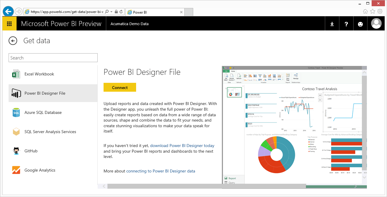 Power BI Designer File Preview