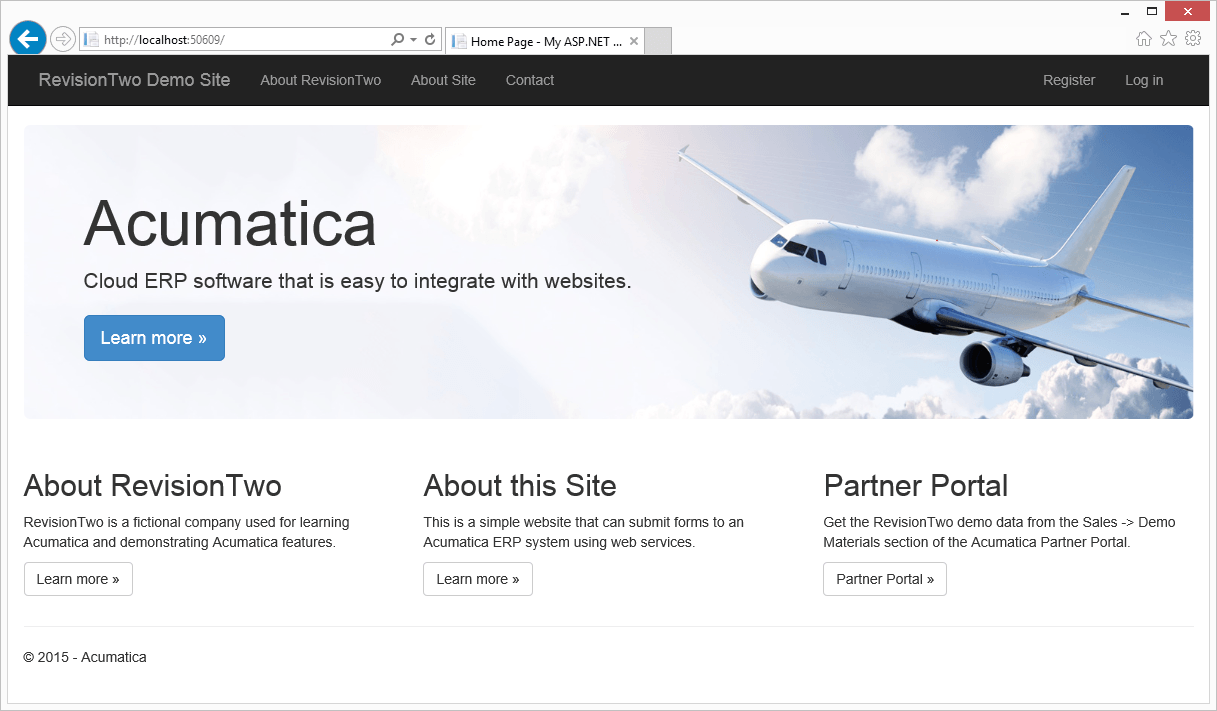 Acumatica and website connection
