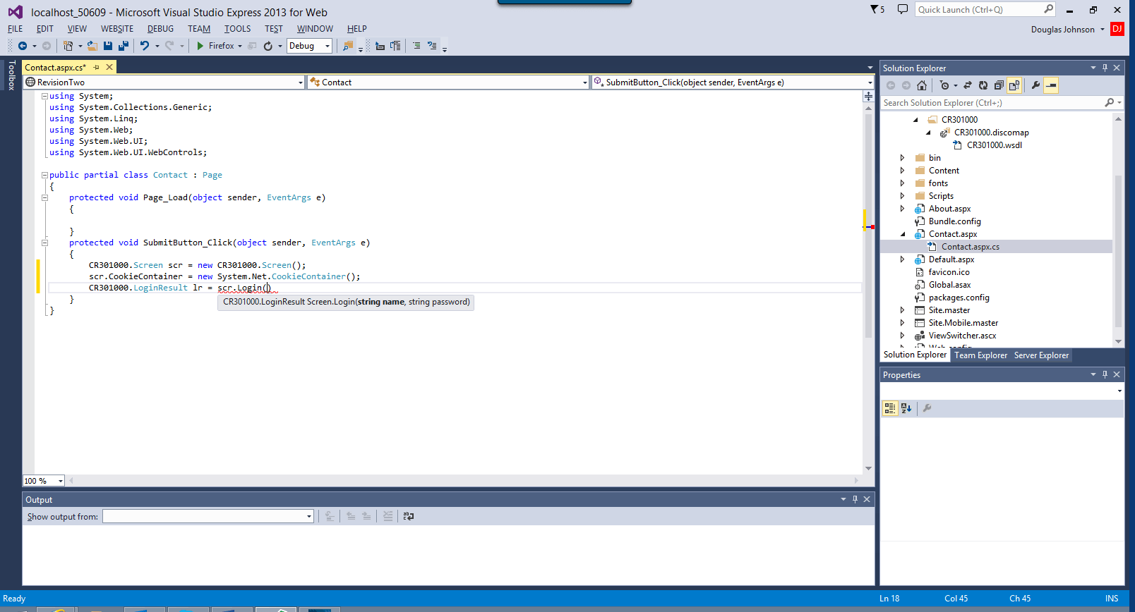 Visual Studio displays the methods associated with Acumatica to simplify programming