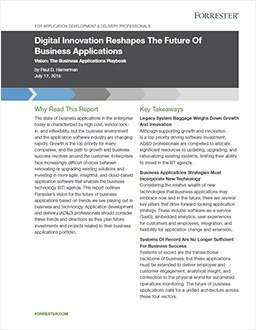 Digital Innovation Reshapes the Future of Business Applications