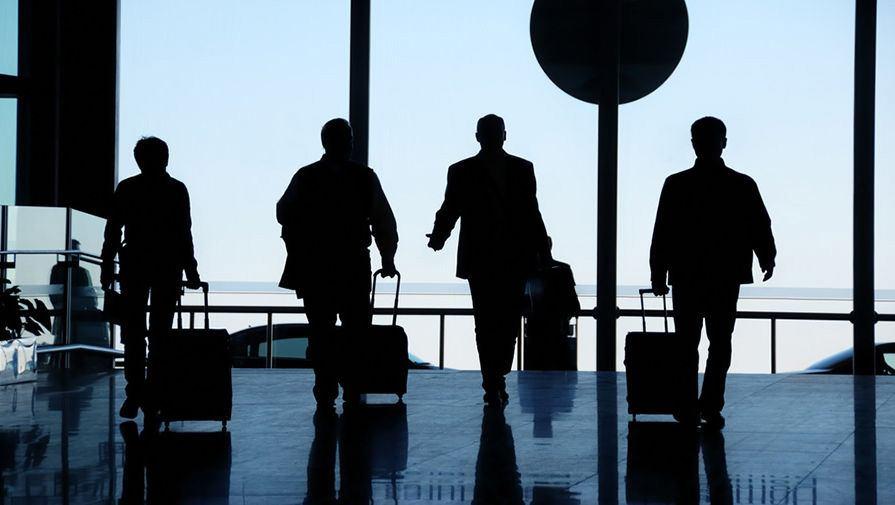Travelers at airport