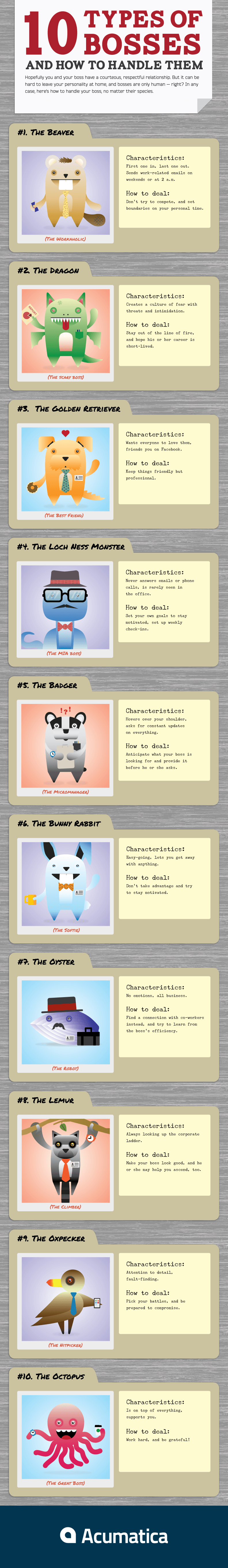 10 Types of Bosses and How to Handle Them - Infographics