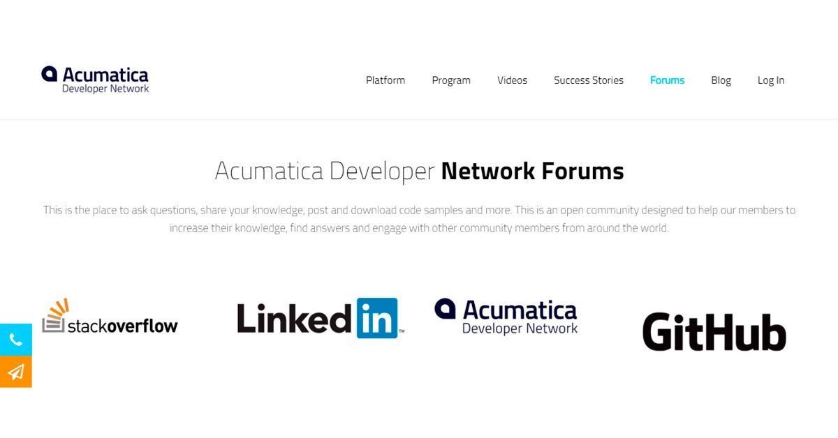 Acumatica Developer Network Forums