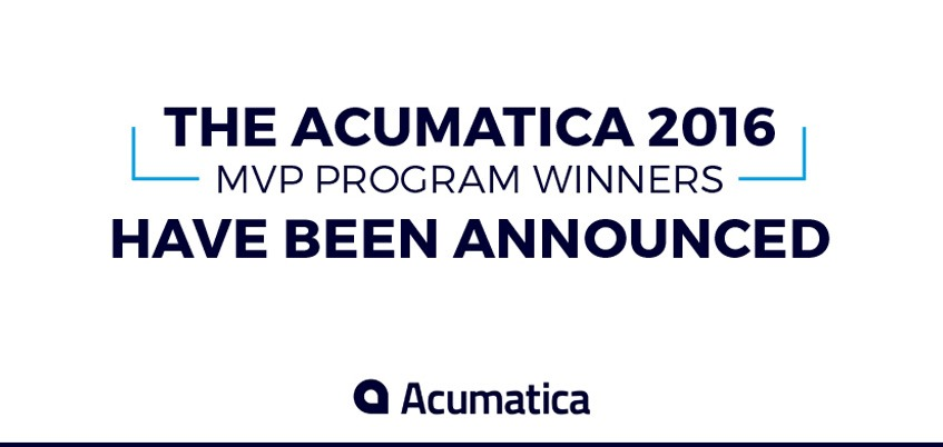 Acumatica 2016 MVP Program Winners Announced