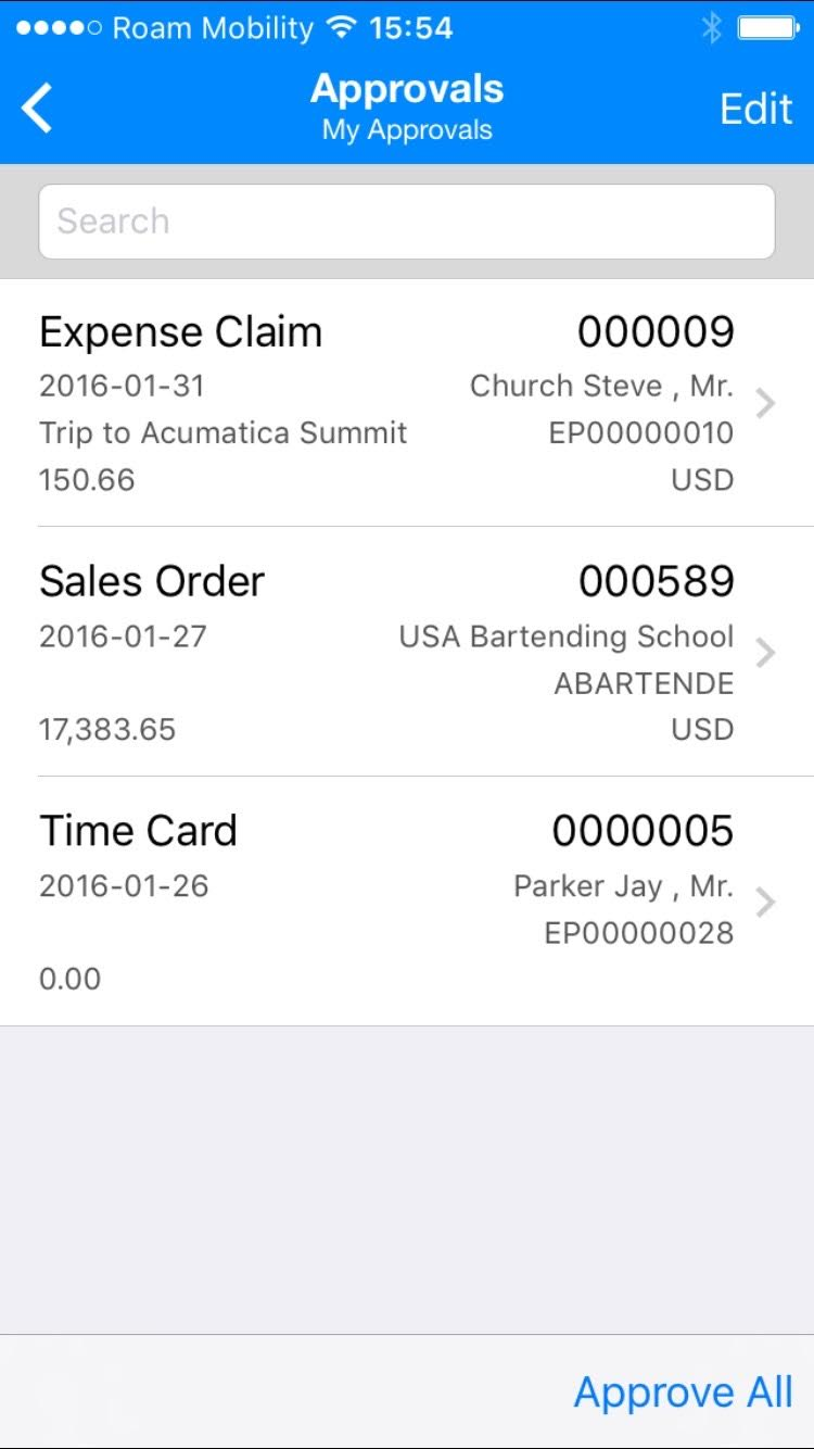 Acumatica 5.3 enhanced mobile app features