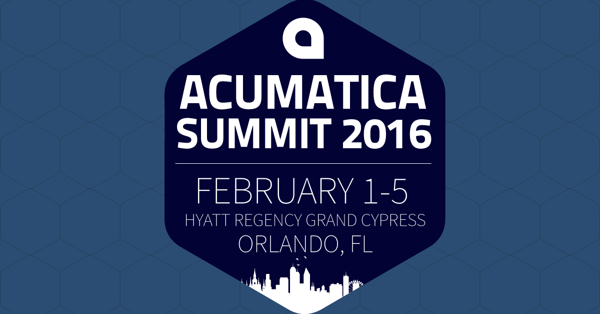 Acumatica Summit 2016: Why Should I Attend? A Technical Perspective