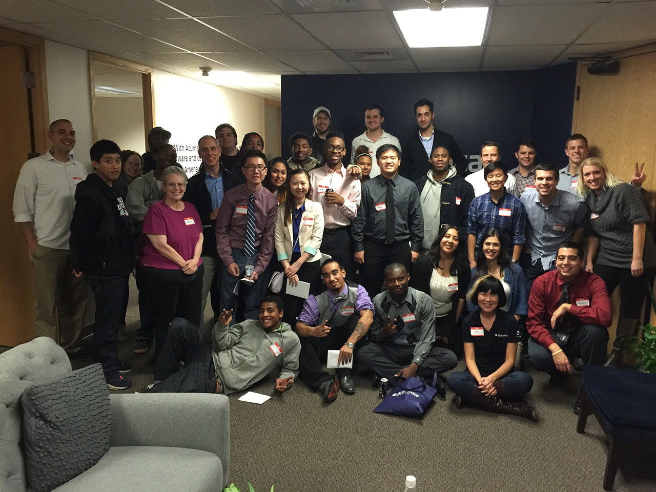 Acumatica volunteers and YouthForce students