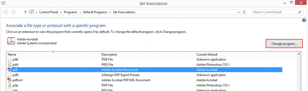 Associate the file extension with the batch file