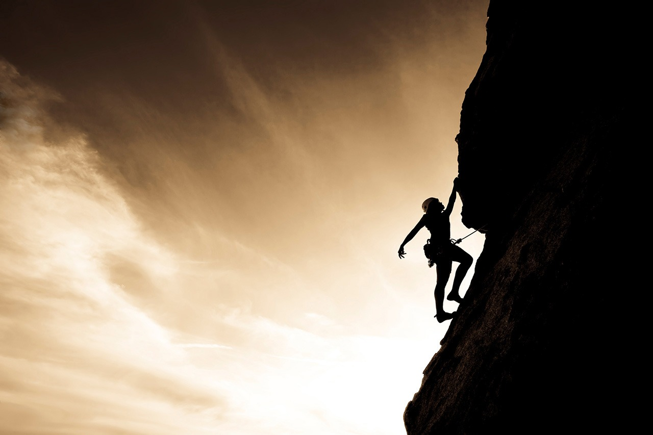 Mountain Climber Scaling