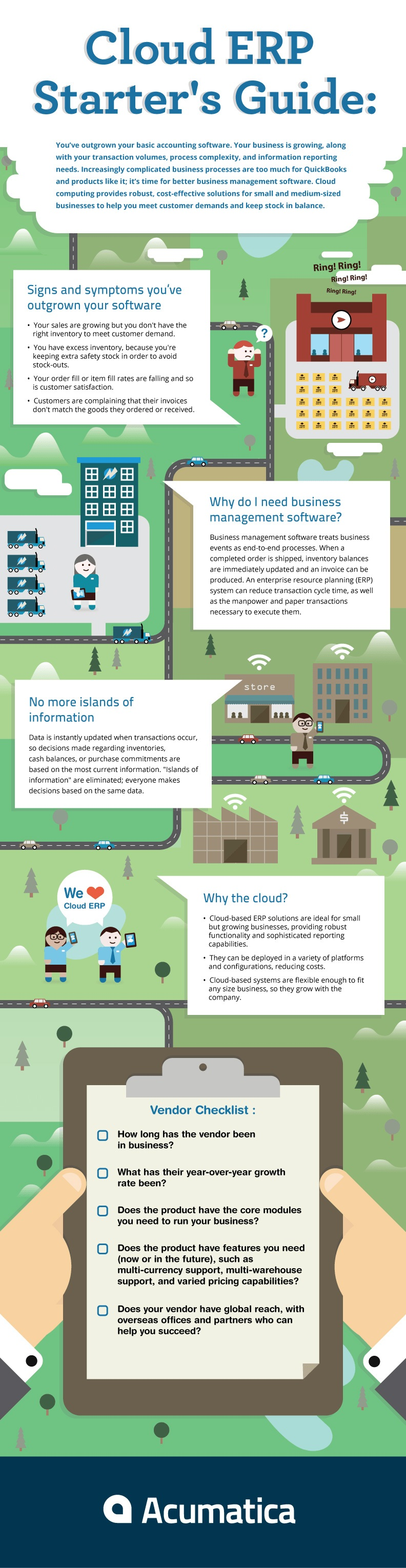 Cloud ERP Starter's Guide - Infographics