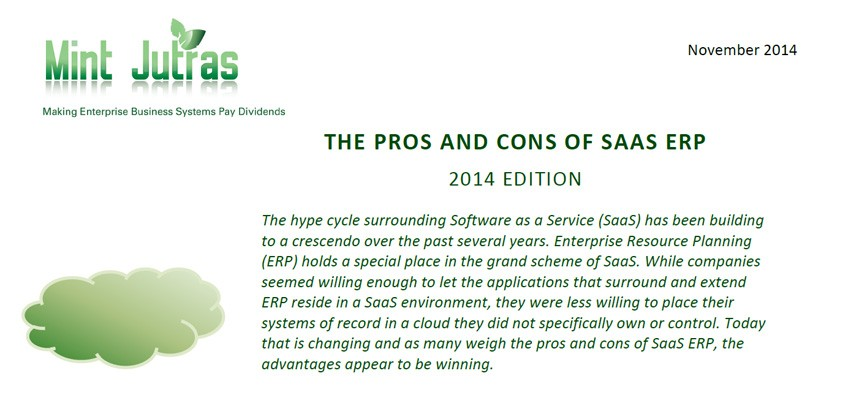Pros and Cons of SaaS ERP