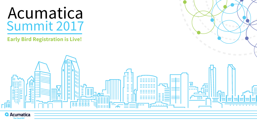 Acumatica Summit 2017 Early Bird Registration is Live