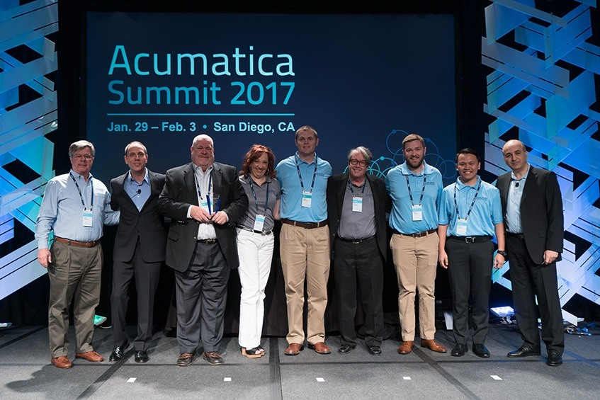 Acumatica Pictured: ISV Partner of the Year, JAAS Systems