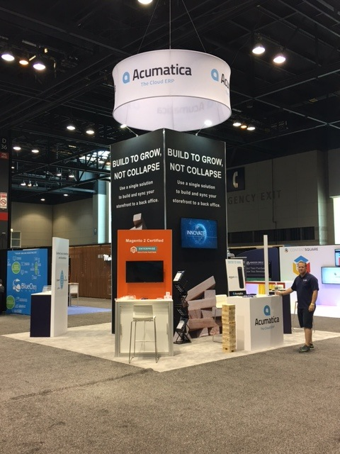 The Acumatica and Kensium teams just after setting up the booth on Monday of this week.