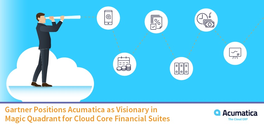Gartner Positions Acumatica Cloud ERP as Visionary in Magic Quadrant for Cloud Core Financial Suites