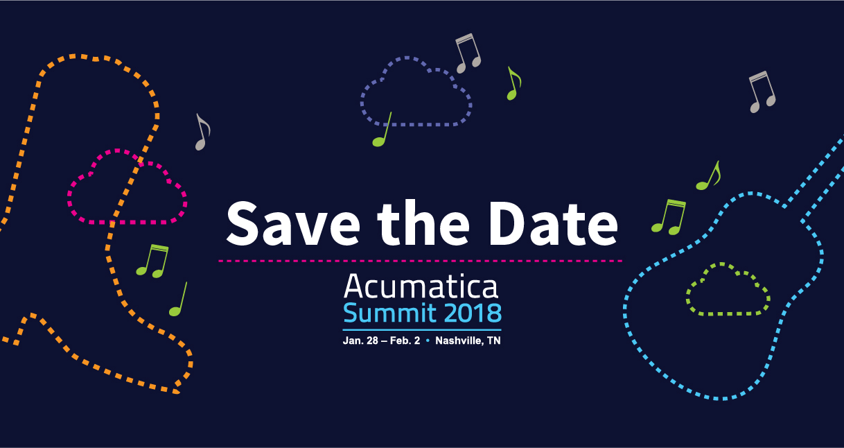 Save the Date: Acumatica Summit 2018 in Nashville