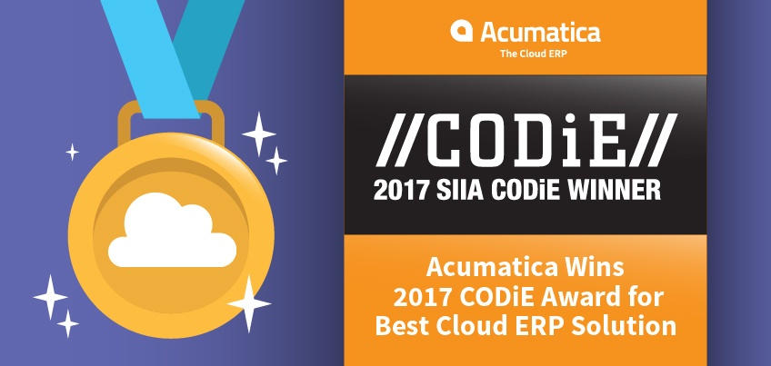 Acumatica Wins 2017 CODiE Award for Best Cloud ERP Solution