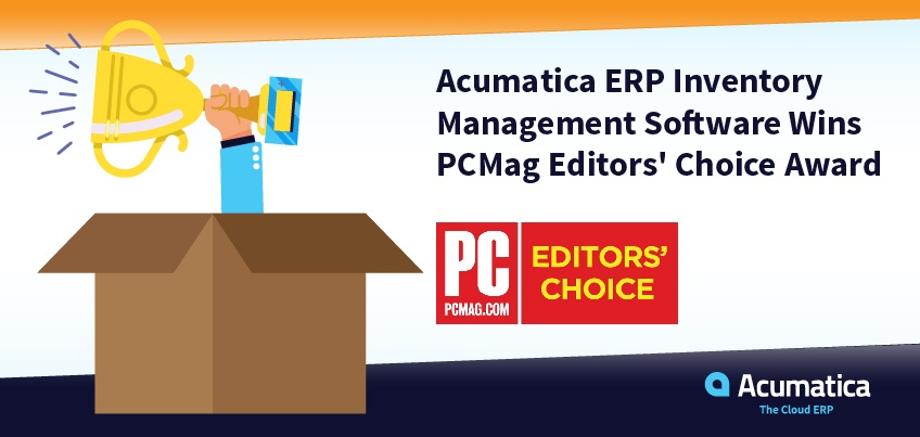 Acumatica's ERP Inventory Management Software Wins PCMag Editors' Choice Award Big