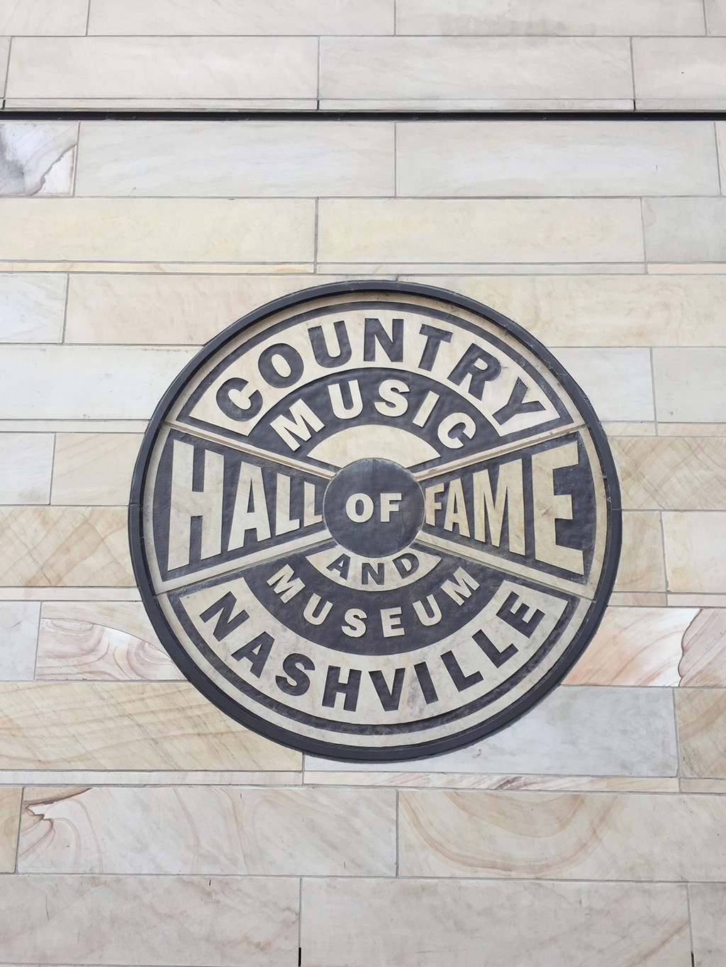 At the entrance to the Country Music Hall of Fame in Nashville