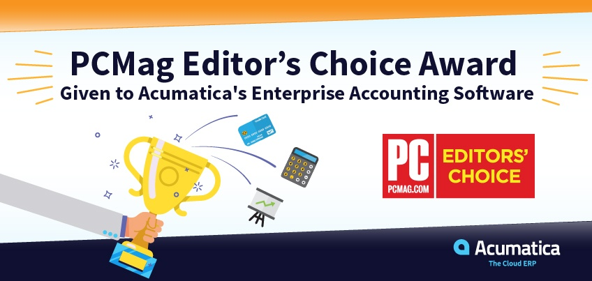 PCMag Editors' Choice Award Given to Acumatica's Enterprise Accounting Software