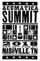 Acumatica Summit 2018 Poster