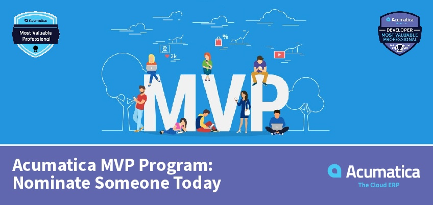 Acumatica MVP Program Nominate Someone Today