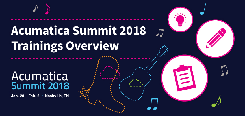 Acumatica Summit 2018 Trainings Overview