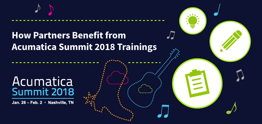 How Partners Benefit from Acumatica Summit 2018 Trainings