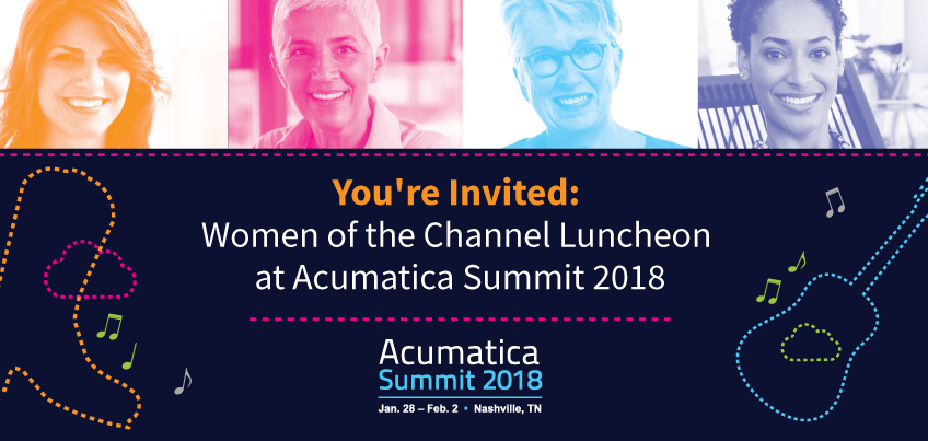 You're Invited Women of the Channel Luncheon at Acumatica Summit 2018