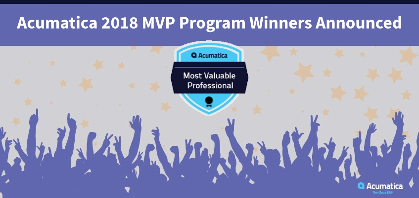 Acumatica 2018 MVP Program Winners Announced