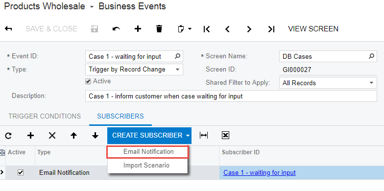 Business Events_Create Subscriber_Email Notification