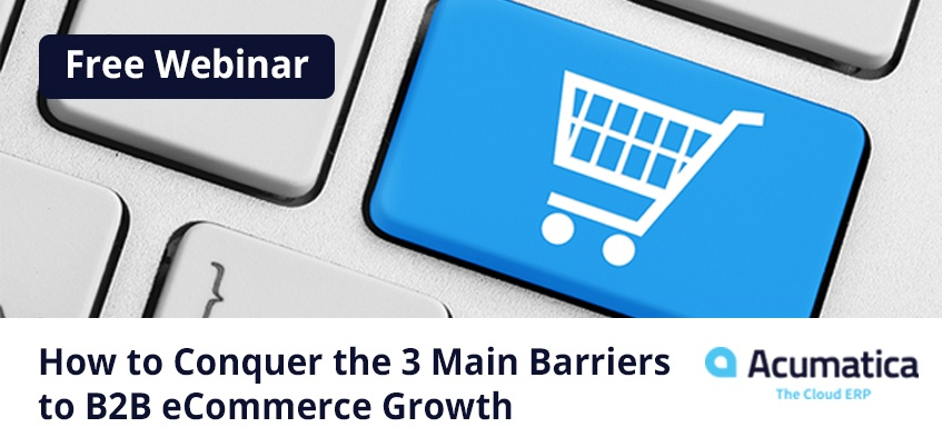 Free Webinar How to Conquer the 3 Main Barriers to B2B eCommerce Growth