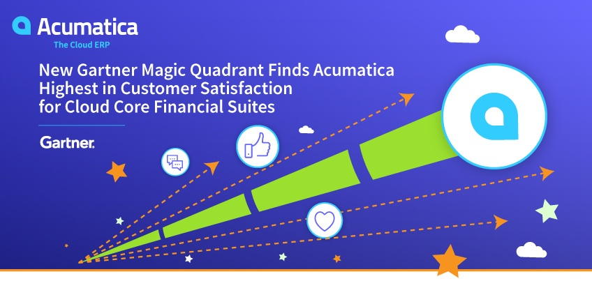 New Gartner Magic Quadrant Finds Acumatica Highest in Customer Satisfaction for Cloud Core Financial Suites
