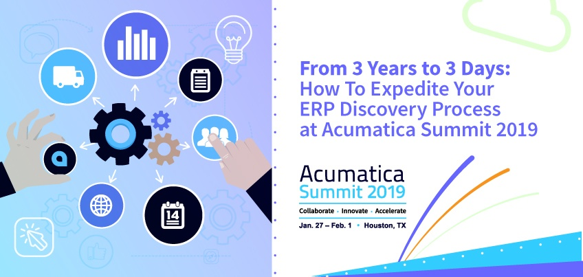 From 3 Years to 3 Days: How to Expedite Your ERP Discovery Process at Acumatica Summit 2019