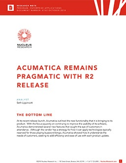 Acumatica Remains Pragmatic with R2 Release