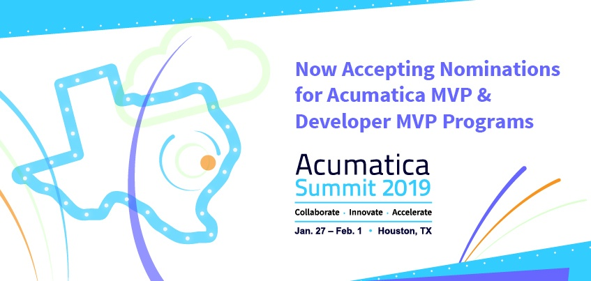Now Accepting Nominations for Acumatica MVP & Developer MVP Programs