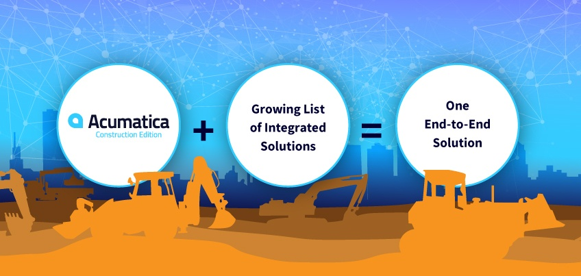 Acumatica Construction Edition + Growing List of Integrated Solutions = One End-to-End Solution