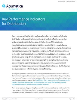 KPIs for Distribution