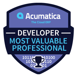Acumatica Developer Most Valuable Professional
