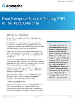 From Enterprise Resource Planning (ERP) to The Digital Enterprise