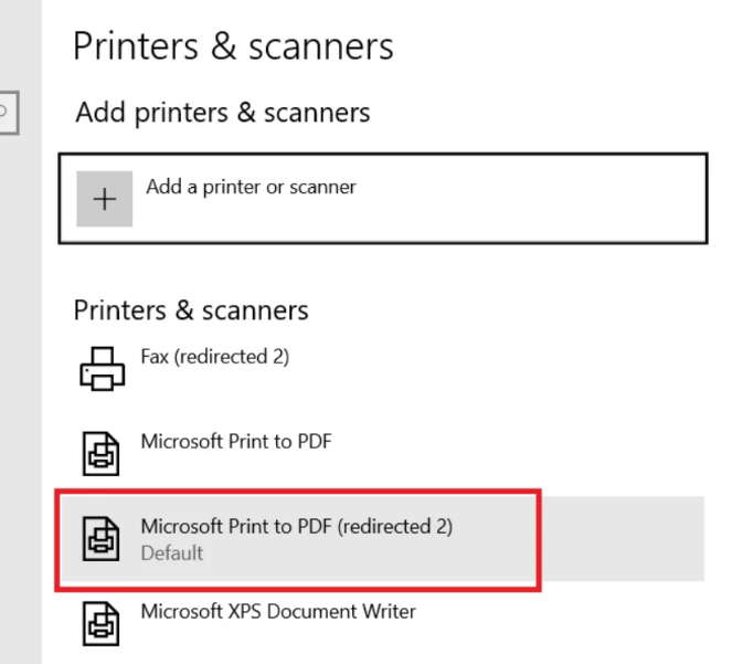 Printer Configuration in the Server