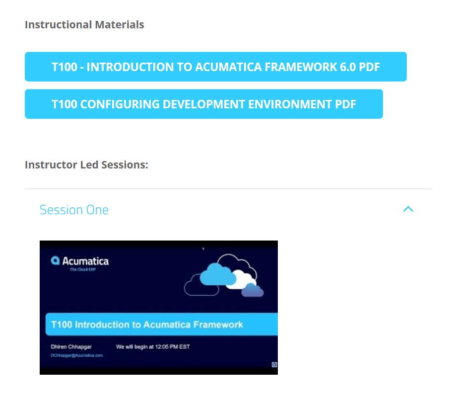 Developer Training Acumatica Open University Acumatica Cloud Erp