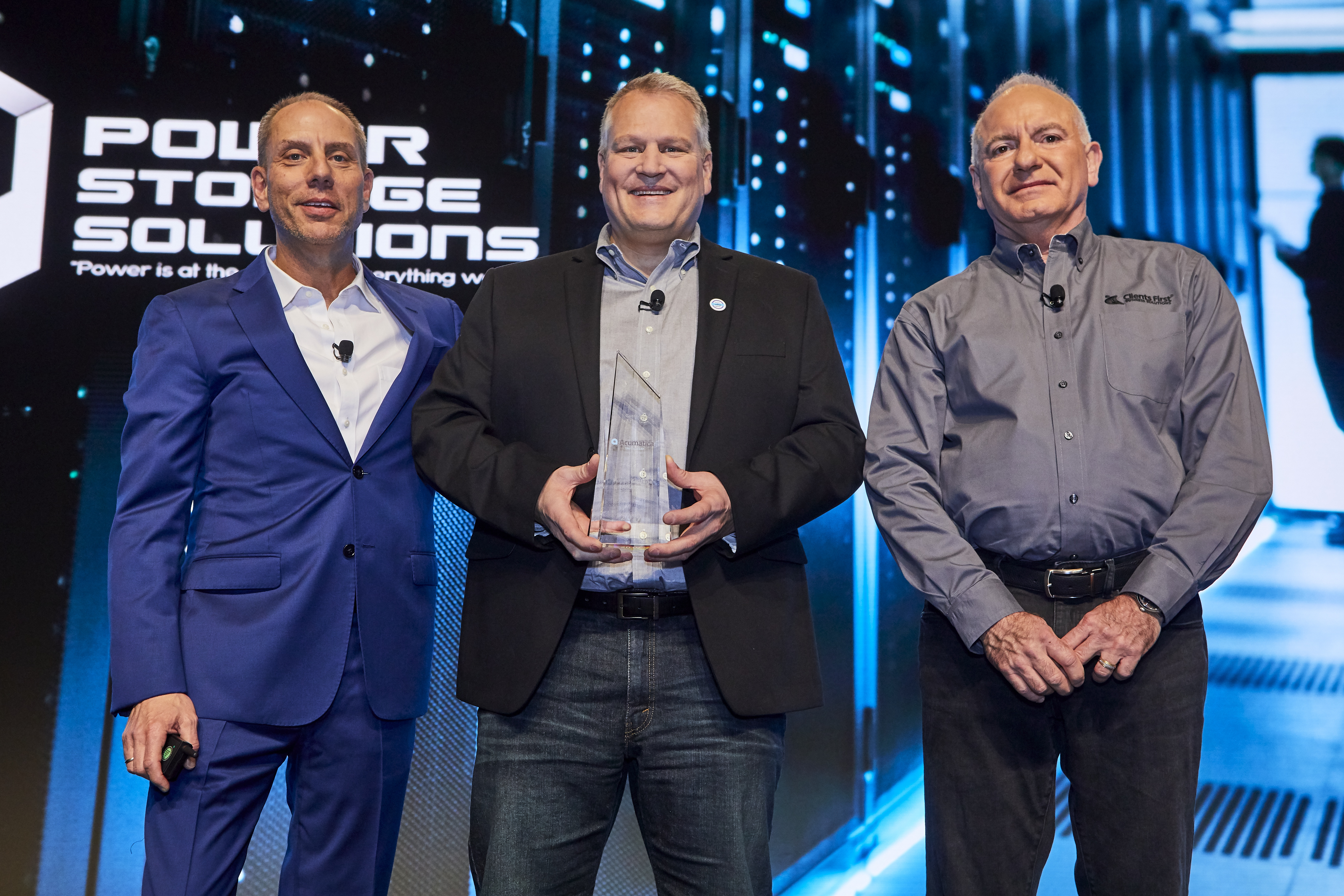CEO Jon Roskill and Power Storage Solutions, Acumatica's Customer of the Year